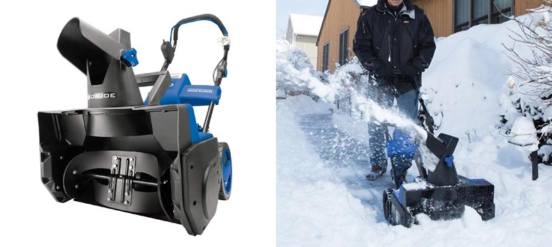 3. Cordless Brushless Snow Joe iON18SB 40 Volt with Quick Charge Kit