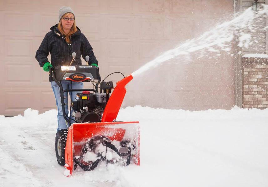 Using an Ariens Snow Blower