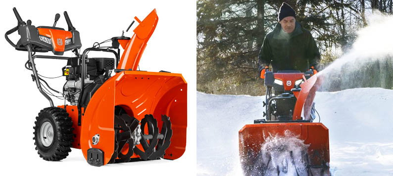 1. Husqvarna ST224P Snow Blower