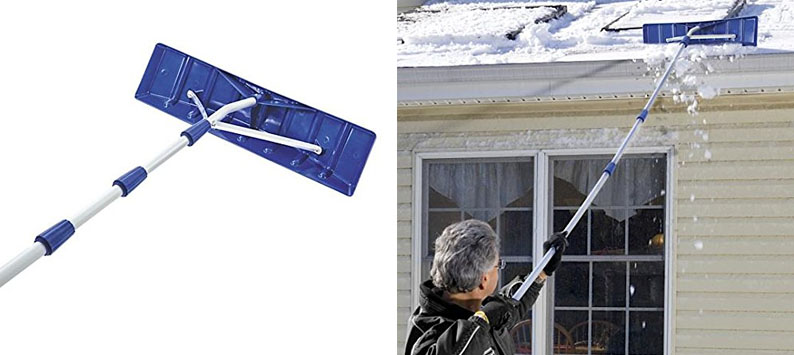 "6. Snow Joe 21"" Telescopic Handle Snow Rake"