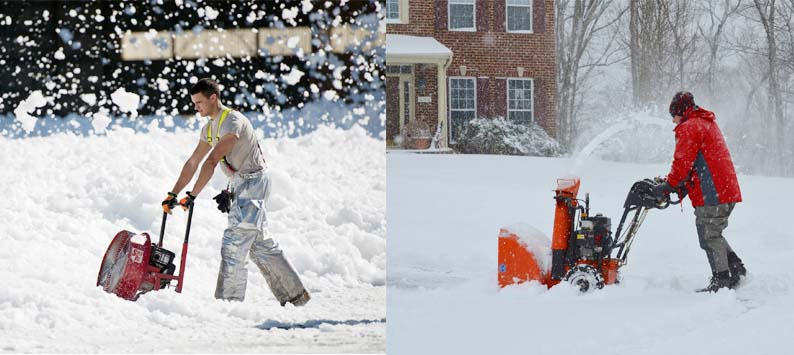 What's the difference between a snow thrower and a snow blower