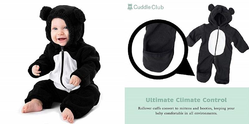 Cuddle Club Fleece Baby Bunting Bodysuit