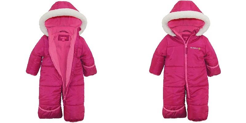 Girls One-Piece Puffer Winter Snowsuit