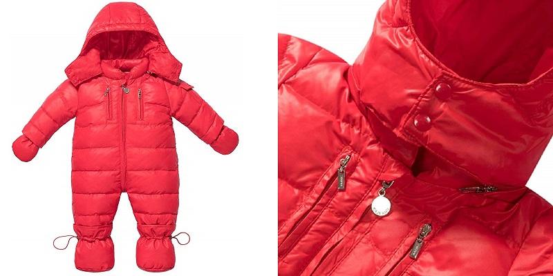 Zoerea Snuggly Down Jacket Snowsuit